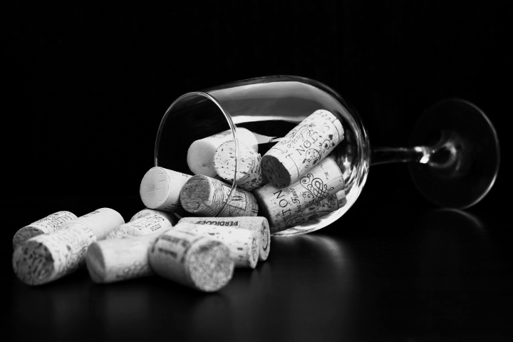 Wine Glass Corks at Zeris Restaurant