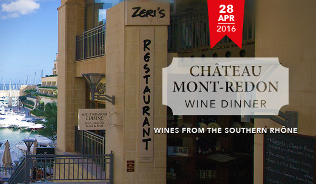 Chateau Mont-Redon Wine Dinner – Southern Rhone Wines