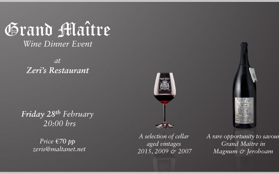 Grand Maitre – Wine & Dine Event